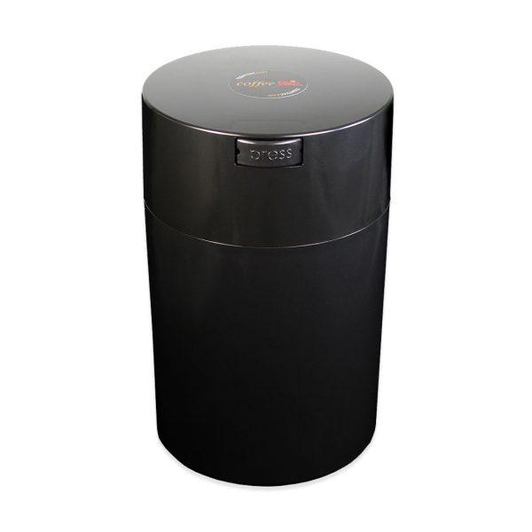 Fekete műanyag kávés doboz